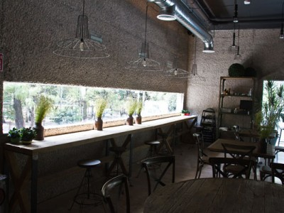 Barra comedor en el restaurante del Museo Rufino Tamayo