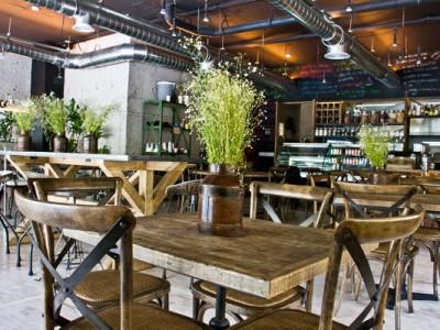 Mobiliario del restaurante del Museo Rufino Tamayo