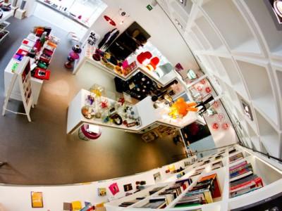 Vista aérea de la tienda del Museo Rufino Tamayo