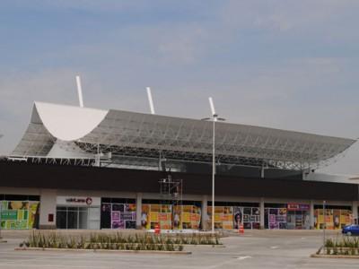 Vista del domo del Centro Comercial Plaza Centella